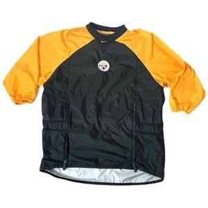 Nike Steelers 3/4 Sleeve Rain Windbreaker